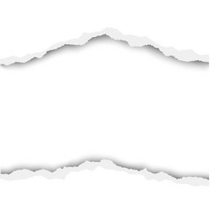 Torn hole in white paper with white background vector