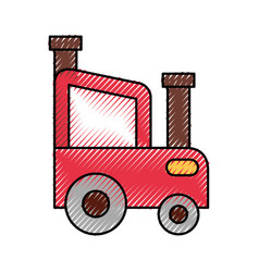 Tractor farm isolated icon vector
