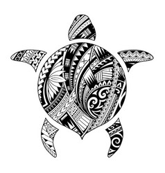 Tribal tattoo for aboriginal turtle shape vector