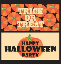 Trick or treat happy halloween party postcard vector