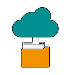upload document on internet vector image