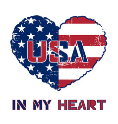 usa t-shirt design vector image