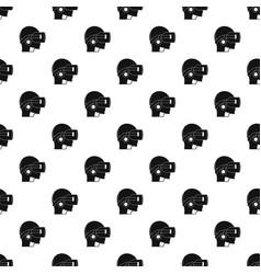 Vr headset pattern vector