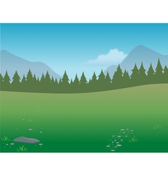 wilderness background vector image