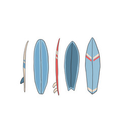 with surfboards vector image