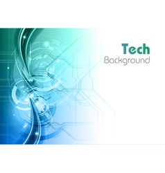 background line wave light tech turquoise vector image vector image