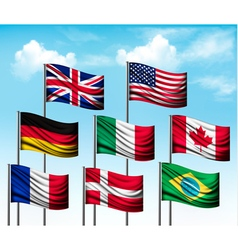 Collection of flags of some countries vector image