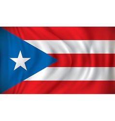 Flag of Puerto Rico vector image vector image