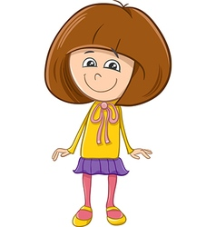 girl character cartoon vector image