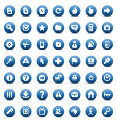 icons for computer interface vector image vector image