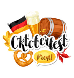 oktoberfest beer festival or poster vector image vector image