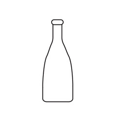 simple contour icon with a bottle image a drawing vector image vector image