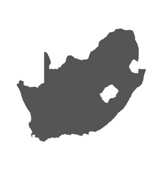 south africa map black icon on white background vector image vector image