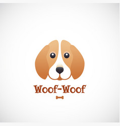 woof-woof sign emblem or logo template vector image vector image