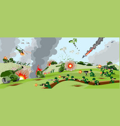 armies on battlefield vector image