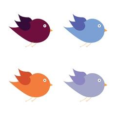 beauty bird color art vector image vector image