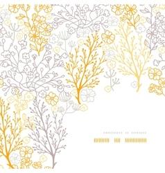 Magical floral corner frame pattern background vector image