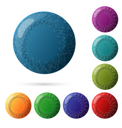 set of beautiful multicolored buttons for your vector image