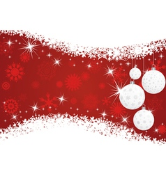 christmas new year card vector image vector image