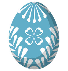 colorful sky blue easter egg poster vector image vector image