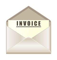envelope with invoice document vector image vector image