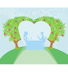 romantic couple vector image vector image