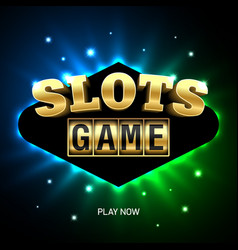 slots game casino banner vector image