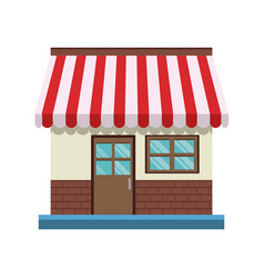 store front door and windows facade shop vector image vector image