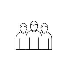 Team group linear icon vector