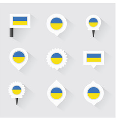 ukraine flag and pins for infographic and map vector image vector image