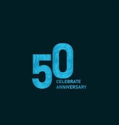 50 year anniversary aqua color template design vector