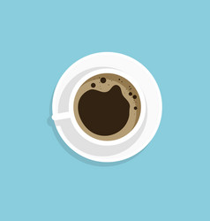 a cup of coffee black vector image