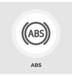 Abs flat icon vector