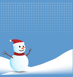 Abstract christmas background with snowman vector