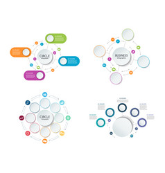abstract round infographics set color circle vector image