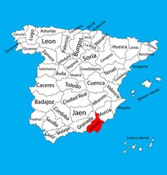 Almeria map spain province administrative map vector
