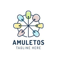 amulet icon isolated on white background logo vector image