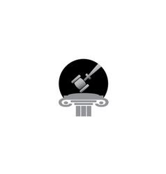 attorneys hammer in a law justice building vector image