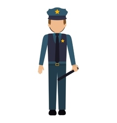 Avatar police man vector