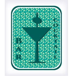 Bar - label with cocktail vector image