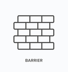 barrier flat line icon outline vector image