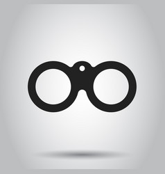 Binocular icon on isolated background business vector