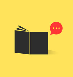 black book with red speech bubble vector image
