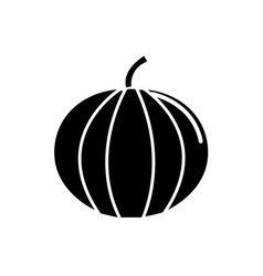 black contour health pumpkin veetable icon vector image