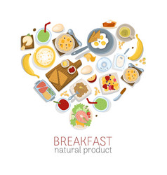 Breakfast healthy products vector