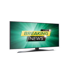 breaking news live background green tv vector image