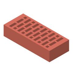 Brick icon isometric style vector