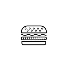 burger hamburger icon vector image