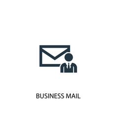 business mail icon simple element vector image