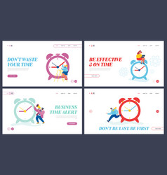 business process time management website landing vector image